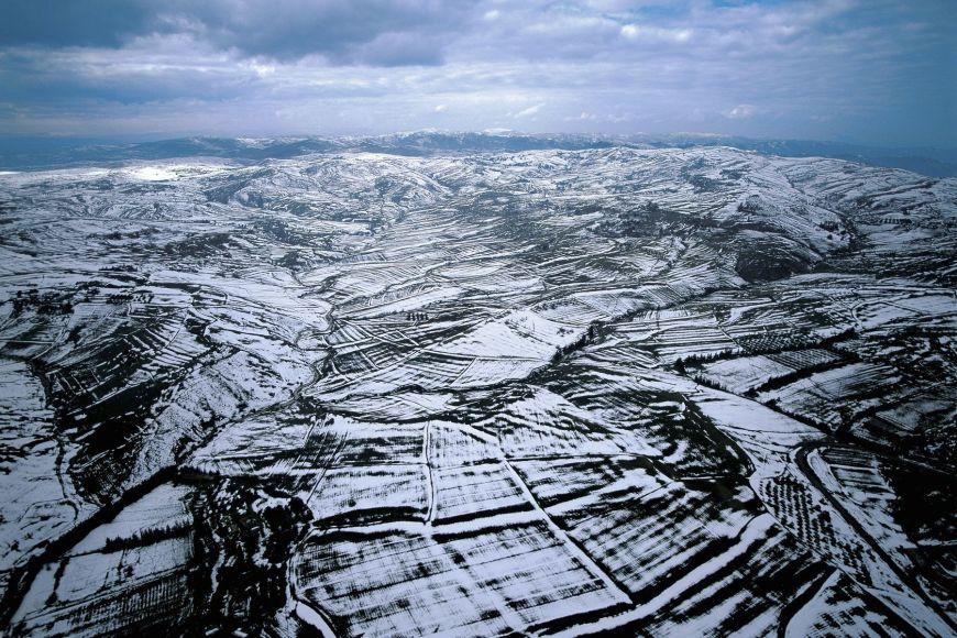 Monts Hodna sous la neige, Algérie