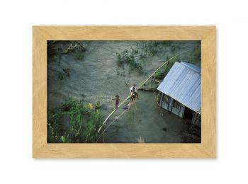 Maison inondée, Bangladesh