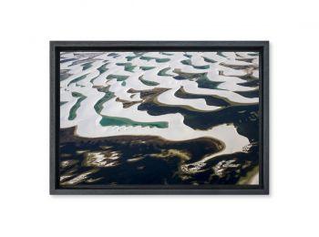 Lagoon in The Lençois Maranhenses National Park, Brazil