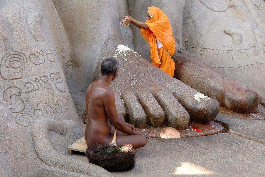 Statue de Gomateshvara, Karnataka, Inde
