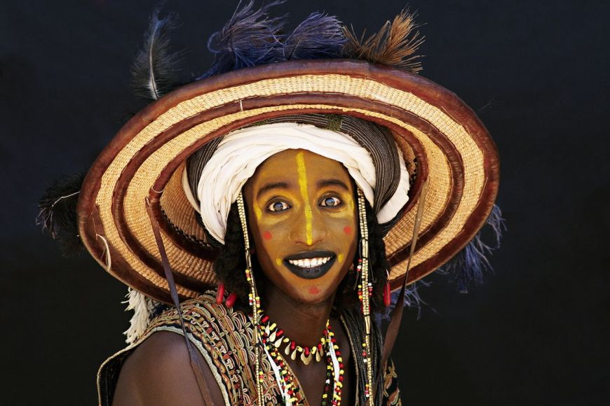 Face painted, Gerewol, Niger