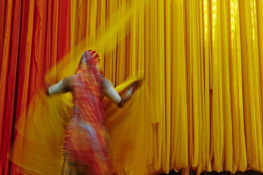 Ouvrière, usine de Sari, Rajasthan, Inde