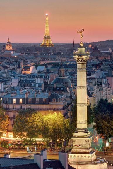 Colonne de la place de la Bastille, Paris, France