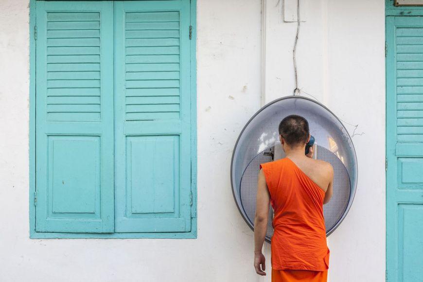 Moine bouddhiste, Bangkok, Thaïlande
