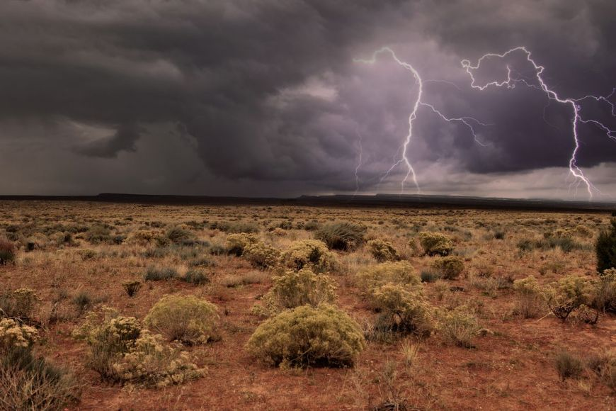 Tempête, Grand Canyon ,Arizona ,États-Unis