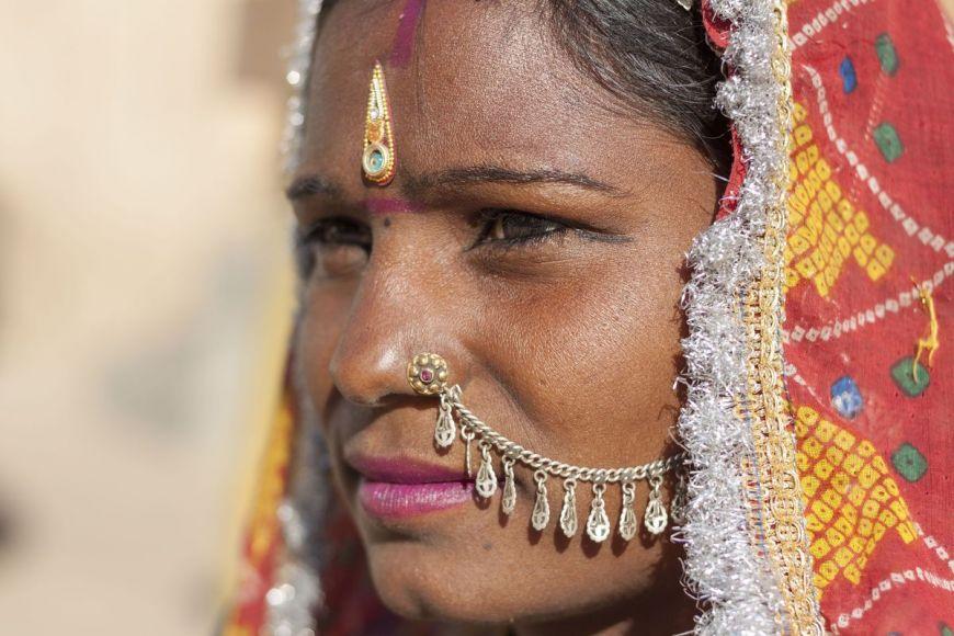 Femme indienne, Rajasthan, Inde