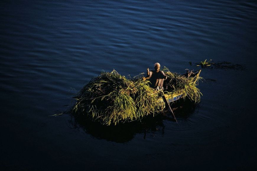 Peasant on his boat, Egypt