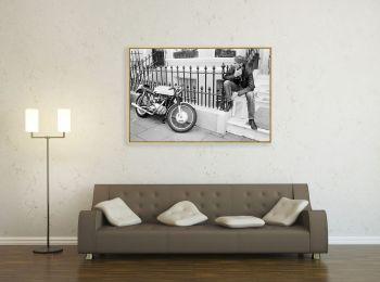 Tourist Trophy, biker et sa moto, série limitée 1/8