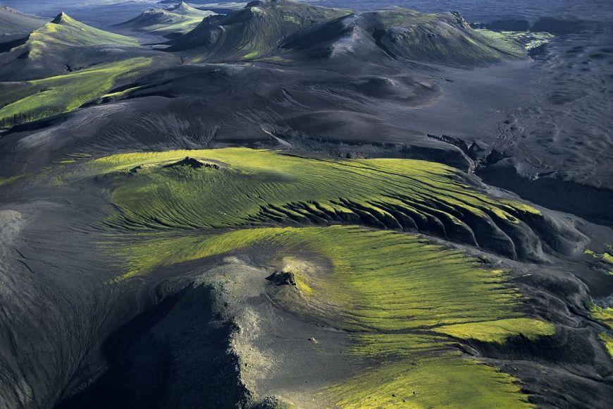 Montagnes, Région de Myrdalsjôkull, Islande