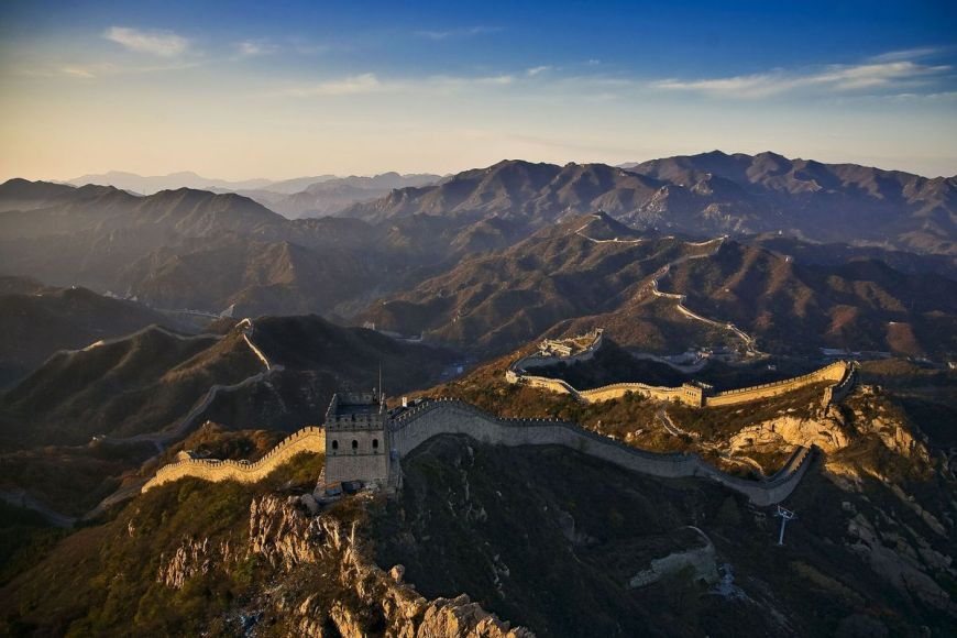 Great chinese Wall near Beijing, China