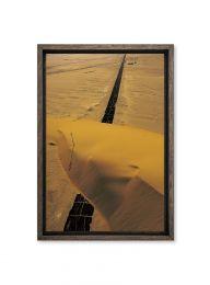 Egypte, route coupée par une dune