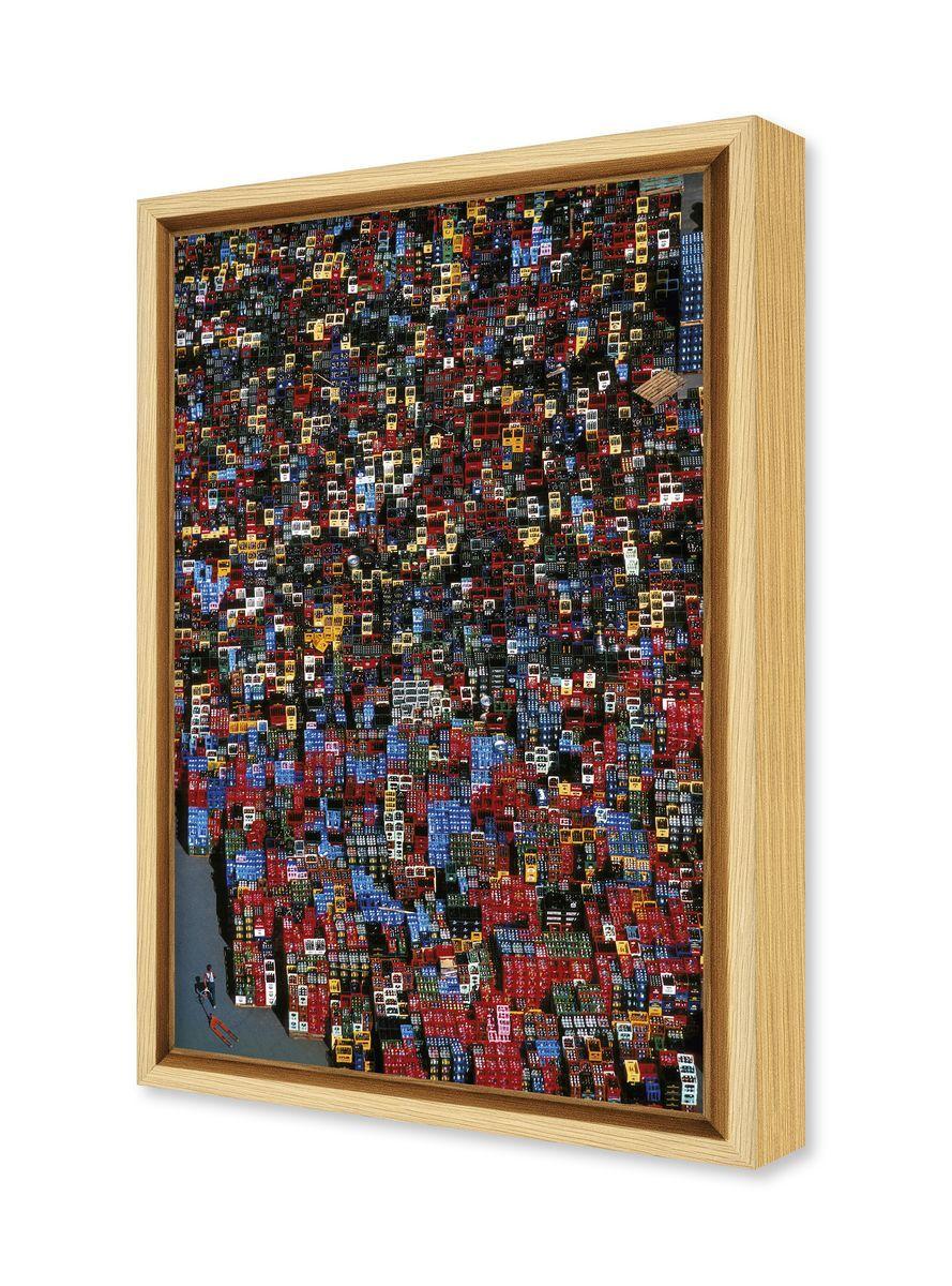 photographie d 39 art abstraite de vue a rienne de casiers en. Black Bedroom Furniture Sets. Home Design Ideas