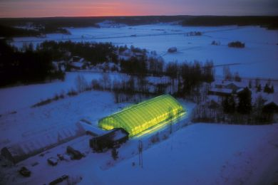 Illuminated Greenhouse, Finland